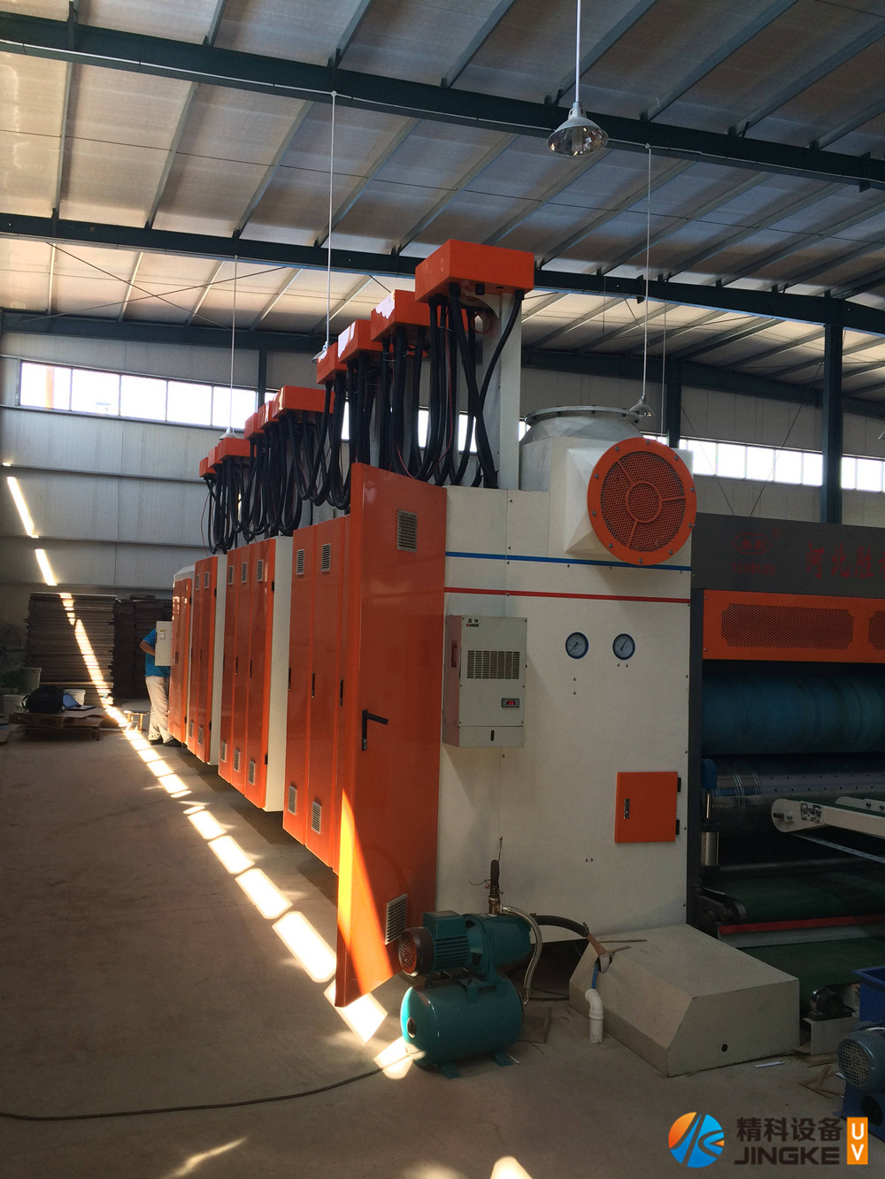 水墨印刷机加装UV设备3