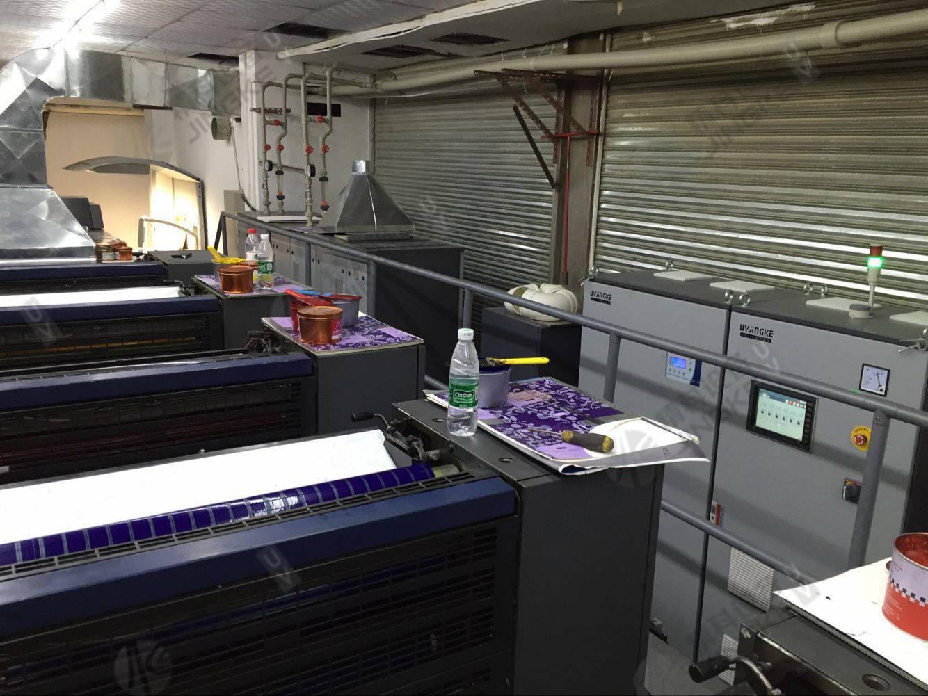 海德堡CD740胶印机加装UV设备5