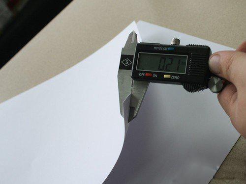 测量纸张厚度