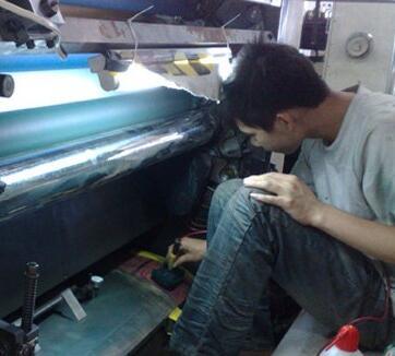 印刷机滚筒故障